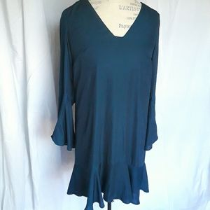 Anthropologie Maeve Emerald Green Tunic Dress